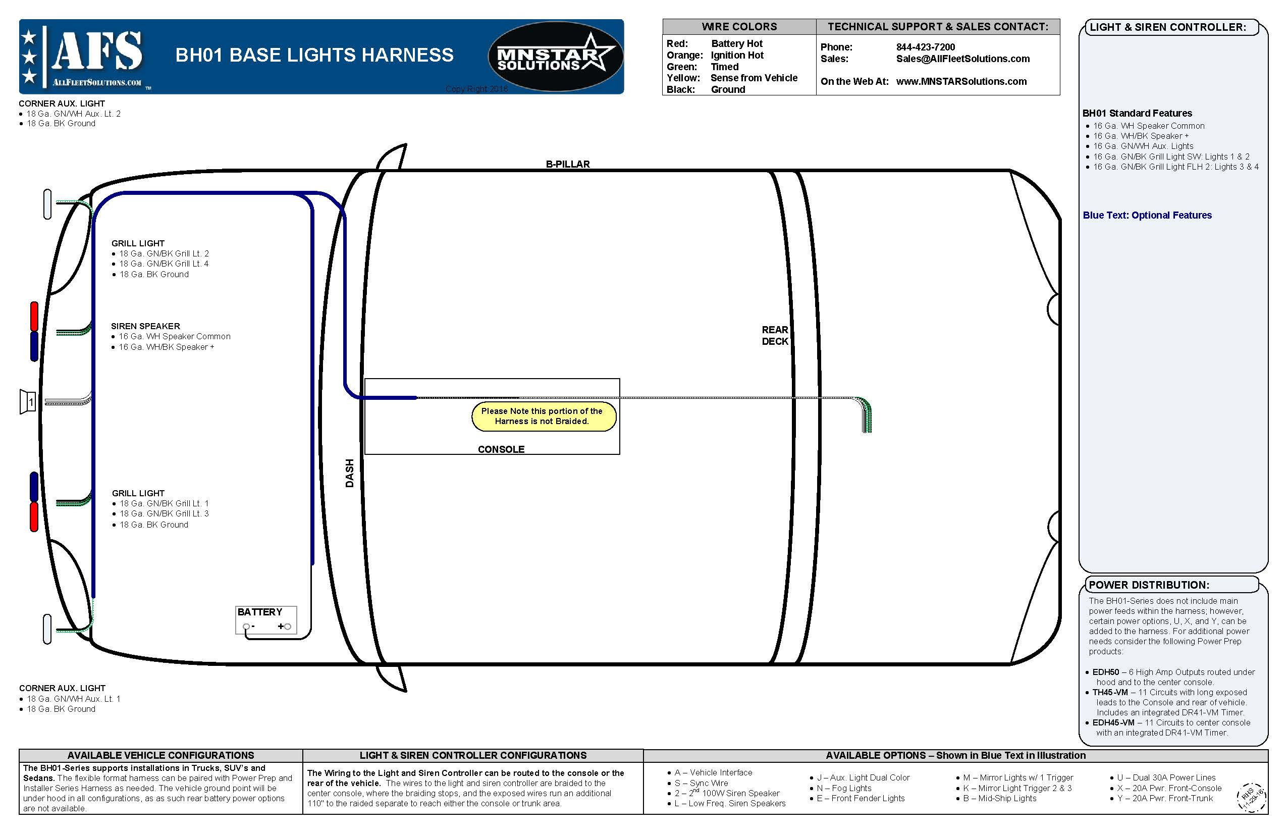 Whats Right For You All Fleet Solutions Stop Lights 4 Wire Wiring Harness The Control Wires Run An Additional 107 And Can Be Cut To Length Ah Series Accessory Harnesses Utilized Lighting At Rear Of Vehicle